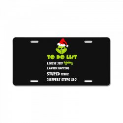 the grinch to do list drive jeep christmas License Plate | Artistshot