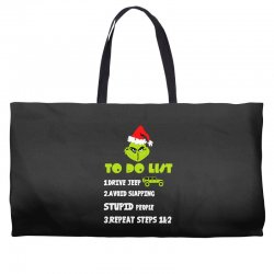 the grinch to do list drive jeep christmas Weekender Totes | Artistshot