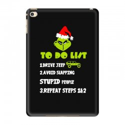 the grinch to do list drive jeep christmas iPad Mini 4 Case | Artistshot