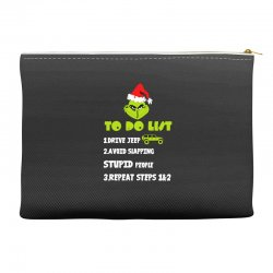 the grinch to do list drive jeep christmas Accessory Pouches | Artistshot