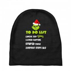 the grinch to do list drive jeep christmas Baby Beanies | Artistshot