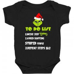 the grinch to do list drive jeep christmas Baby Bodysuit | Artistshot