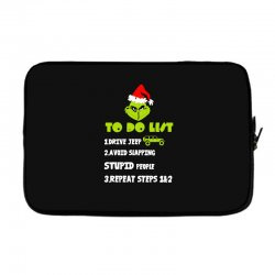 the grinch to do list drive jeep christmas Laptop sleeve | Artistshot