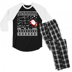teachers merry christmas sweatshirt Men's 3/4 Sleeve Pajama Set | Artistshot