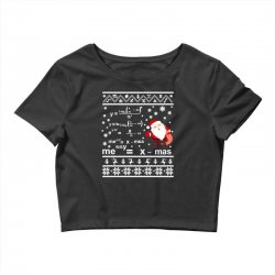 teachers merry christmas sweatshirt Crop Top | Artistshot