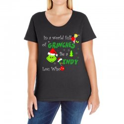 snow christmas in a world full of grinches be cindy lou who shirts Ladies Curvy T-Shirt | Artistshot
