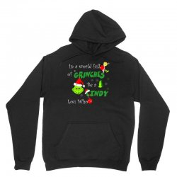 snow christmas in a world full of grinches be cindy lou who shirts Unisex Hoodie | Artistshot