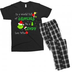 snow christmas in a world full of grinches be cindy lou who shirts Men's T-shirt Pajama Set | Artistshot