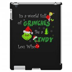 snow christmas in a world full of grinches be cindy lou who shirts iPad 3 and 4 Case | Artistshot