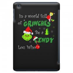 snow christmas in a world full of grinches be cindy lou who shirts iPad Mini | Artistshot