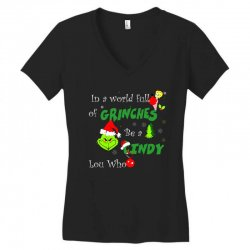 snow christmas in a world full of grinches be cindy lou who shirts Women's V-Neck T-Shirt | Artistshot