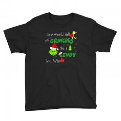 snow christmas in a world full of grinches be cindy lou who shirts Youth Tee | Artistshot