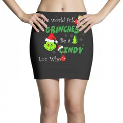 snow christmas in a world full of grinches be cindy lou who shirts Mini Skirts | Artistshot