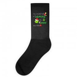 snow christmas in a world full of grinches be cindy lou who shirts Socks | Artistshot