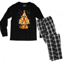 pizza christmas sweatshirt Men's Long Sleeve Pajama Set | Artistshot