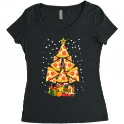 pizza christmas sweatshirt Women's Triblend Scoop T-shirt | Artistshot