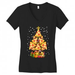 pizza christmas sweatshirt Women's V-Neck T-Shirt | Artistshot