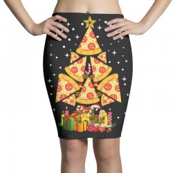 pizza christmas sweatshirt Pencil Skirts | Artistshot