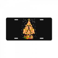 pizza christmas sweatshirt License Plate | Artistshot