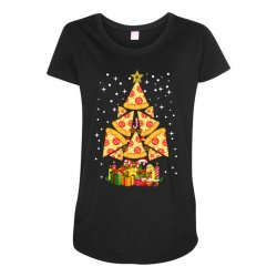 pizza christmas sweatshirt Maternity Scoop Neck T-shirt | Artistshot