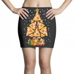 pizza christmas sweatshirt Mini Skirts | Artistshot