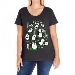 pandamonium Ladies Curvy T-Shirt | Artistshot