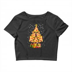 pizza christmas sweatshirt Crop Top | Artistshot
