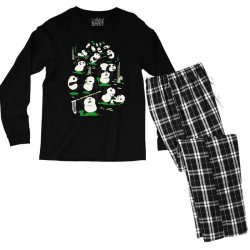 pandamonium Men's Long Sleeve Pajama Set | Artistshot
