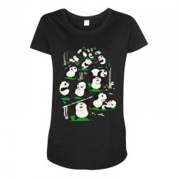 pandamonium Maternity Scoop Neck T-shirt | Artistshot