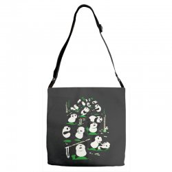 pandamonium Adjustable Strap Totes | Artistshot