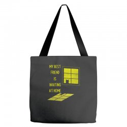 my best friend is waiting at home Tote Bags | Artistshot