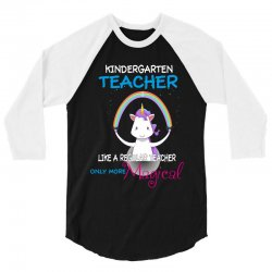 kindergarten teacher cute magical unicorn 3/4 Sleeve Shirt | Artistshot