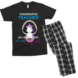 kindergarten teacher cute magical unicorn Men's T-shirt Pajama Set | Artistshot