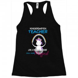 kindergarten teacher cute magical unicorn Racerback Tank | Artistshot