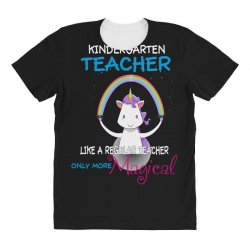 kindergarten teacher cute magical unicorn All Over Women's T-shirt | Artistshot