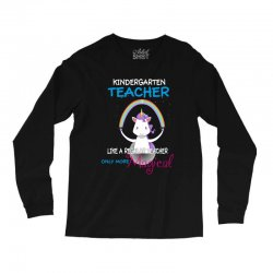 kindergarten teacher cute magical unicorn Long Sleeve Shirts | Artistshot