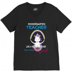 kindergarten teacher cute magical unicorn V-Neck Tee | Artistshot