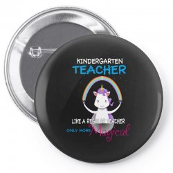 kindergarten teacher cute magical unicorn Pin-back button | Artistshot