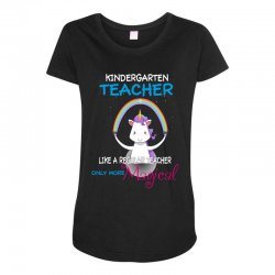 kindergarten teacher cute magical unicorn Maternity Scoop Neck T-shirt | Artistshot