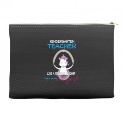 kindergarten teacher cute magical unicorn Accessory Pouches | Artistshot