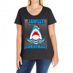 jaws christmas Ladies Curvy T-Shirt | Artistshot