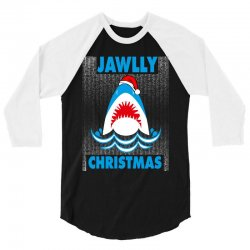 jaws christmas 3/4 Sleeve Shirt | Artistshot