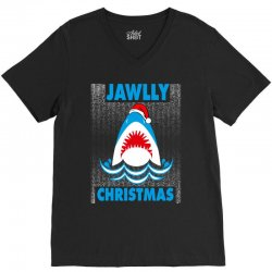 jaws christmas V-Neck Tee | Artistshot