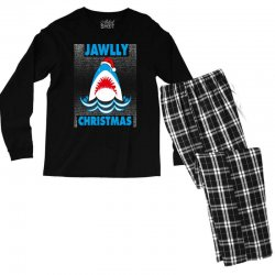 jaws christmas Men's Long Sleeve Pajama Set | Artistshot