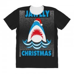 jaws christmas All Over Women's T-shirt | Artistshot