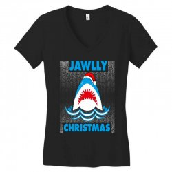 jaws christmas Women's V-Neck T-Shirt | Artistshot