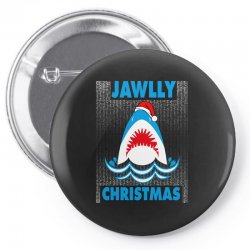 jaws christmas Pin-back button | Artistshot