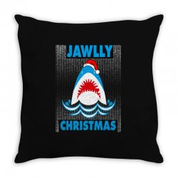 jaws christmas Throw Pillow | Artistshot