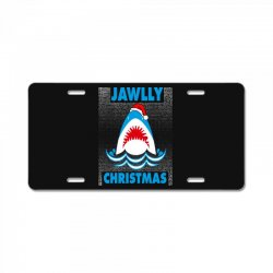 jaws christmas License Plate | Artistshot