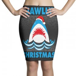 jaws christmas Pencil Skirts | Artistshot